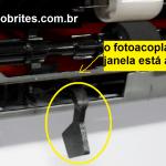 Alavanca do sensor de papel