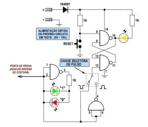 Fig. 1 - Circuito da ponta lógica by Alex