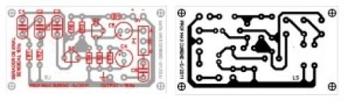 Placa de circuito impresso pra montagem