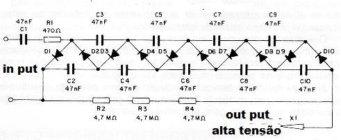 Circuito multiplicador de tensão