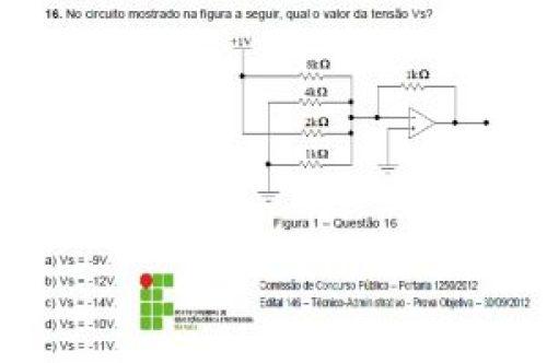 Questão 16 - IFSP