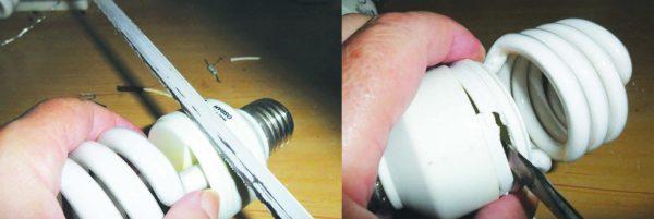 Abrindo a lâmpada