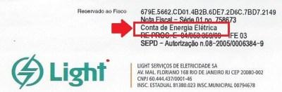 Contaa de Energia Elétrica