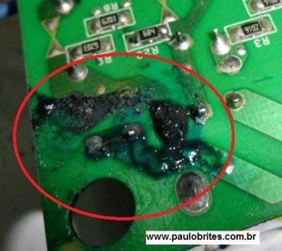 Fig. 7 - PCI da fonte destruída
