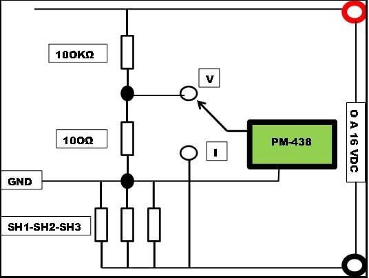 Circuito para ligação do display PM-438