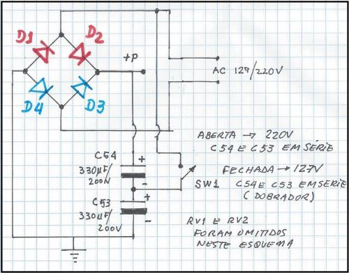 Fig.2 - Redesenhando o circuito de entrada da fonte