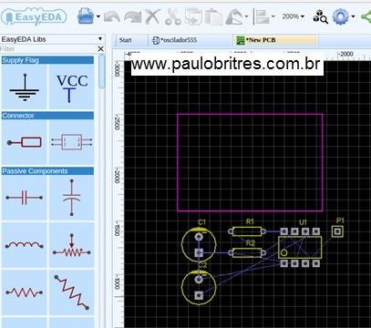 Fig.16 – Página mostrando a sugestão do Editor para construção do PCB