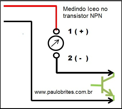 Fig.9 - Medindo Iceo no NPN