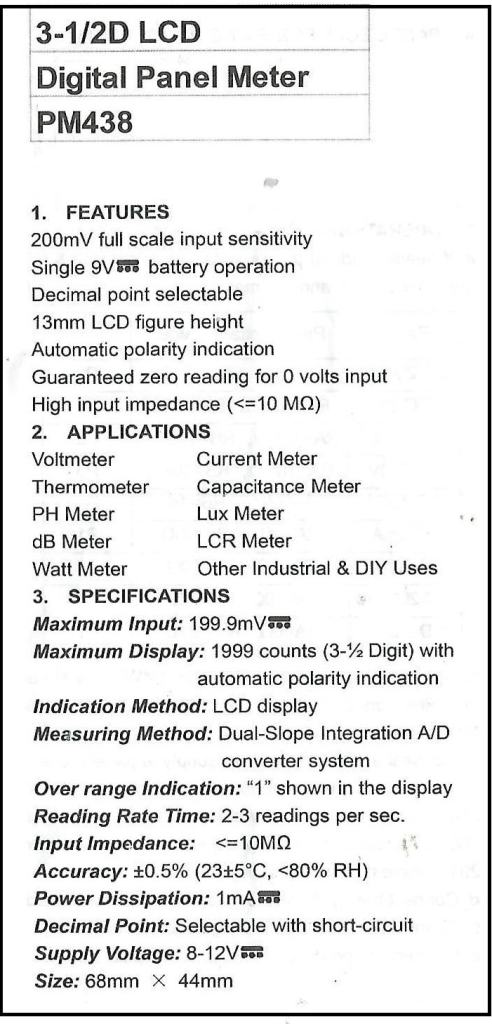 Fig.1-Manual do PM-438