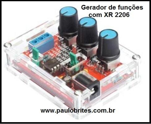 Gerador de funções com XR 2206
