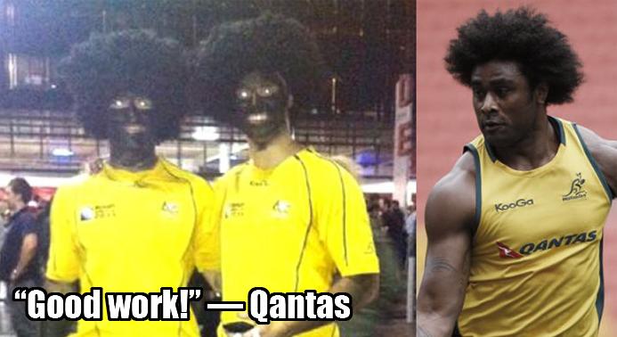Qantas Applauds Racism