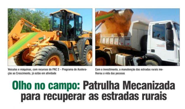 Paulo Guedes - patrulha mecanizada para recuperar as estradas rurais de Januária