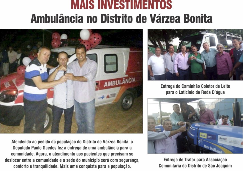 Ambulância no Distrito de Várzea Bonita