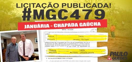 MGC-479: aberto edital de licitação do projeto de engenharia do asfaltamento entre Januária e Chapada Gaúcha