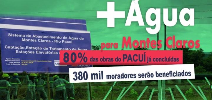 Abastecimento de água em Montes Claros: Obras no rio Pacuí já estão 80% concluídas