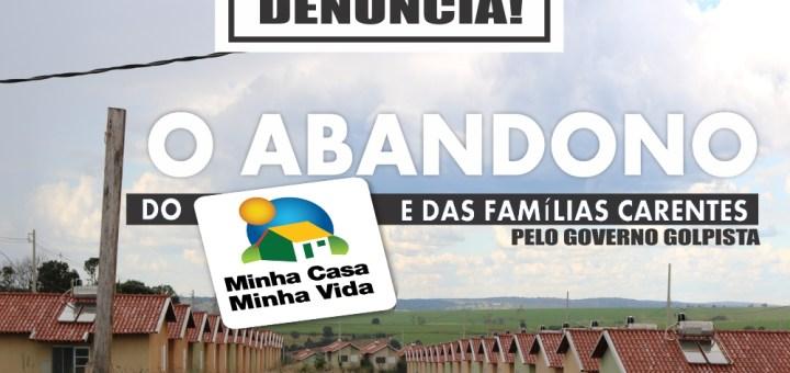 Paulo Guedes denuncia abandono das obras do programa Minha Casa Minha Vida