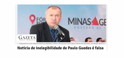 notícia sobre a inelegibilidade do deputado paulo guedes é verdadeira
