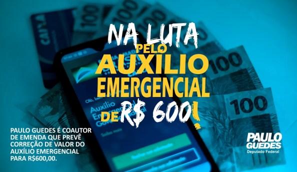 Paulo Guedes é coautor de emenda para que auxílio emergencial seja de R$ 600