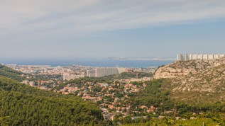 Marseille view from D559 road