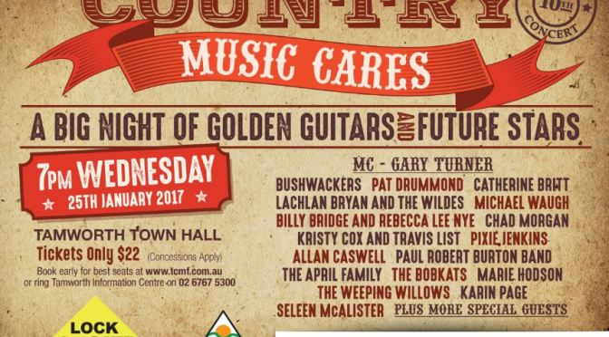 Tamworth Country Music Cares Concert – January 25th 7pm