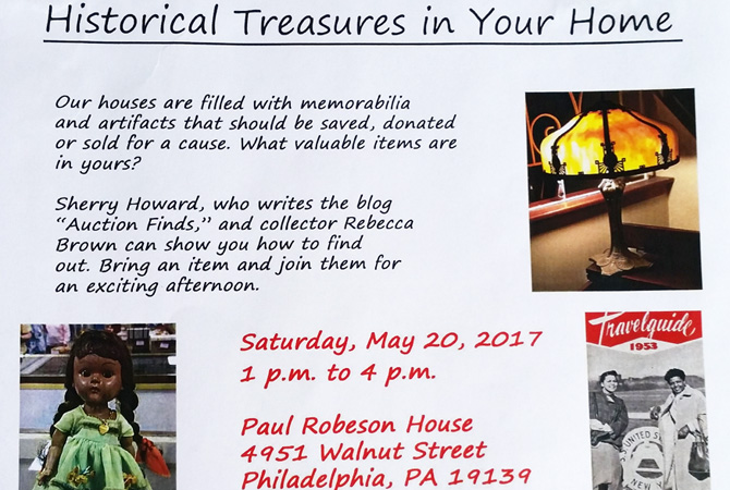 Flyer for presentation on your family's treasures.