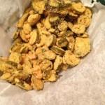 Fried jalapeno chips