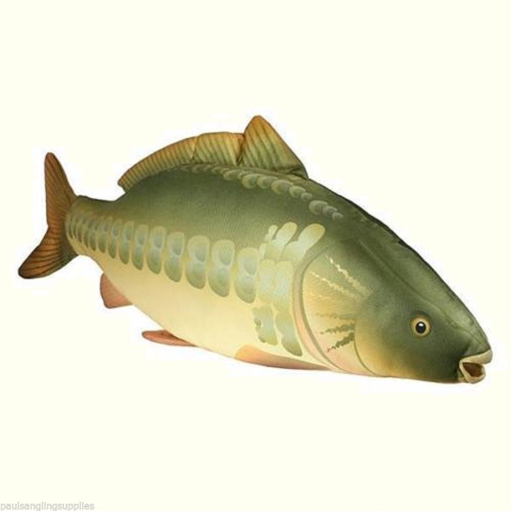 ngt fishing chair cane seat carp fish shaped pillow / cushion toy 70cm