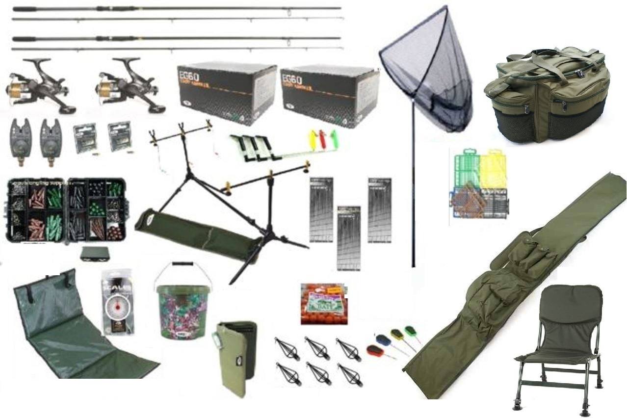ngt fishing chair target folding chairs padded carp set kit rods reels alarms bait tackle