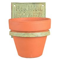 """ FLOWER POT HOLDER INDUSTRIAL "" CAST IRON CUP HOLDERS ..."