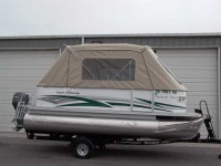 Pontoon Boat Tent & Green Pontoon Boat Cover With Pontoon ...