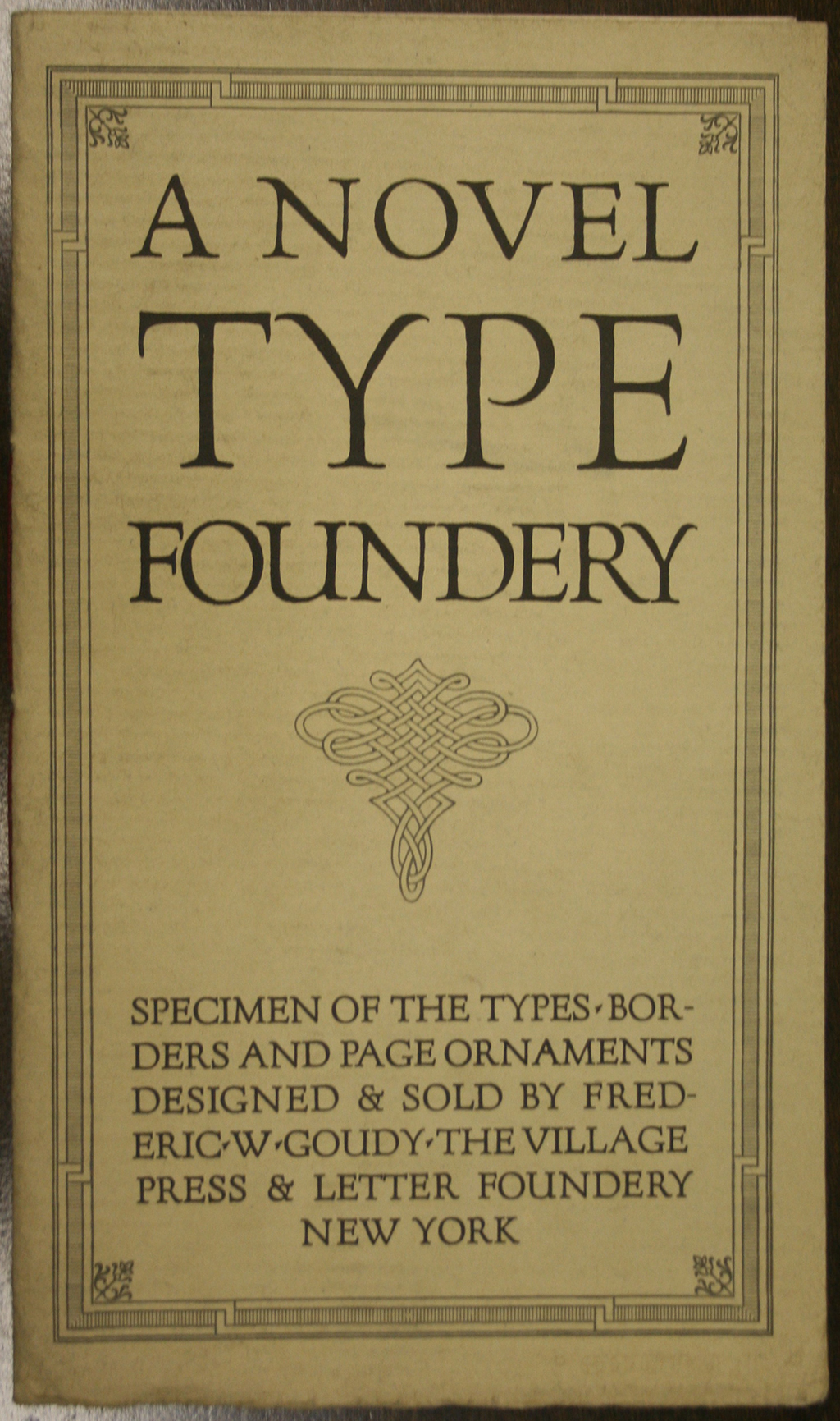 Paul Shaw Letter Design  An appreciation of Frederic W Goudy as a type designer