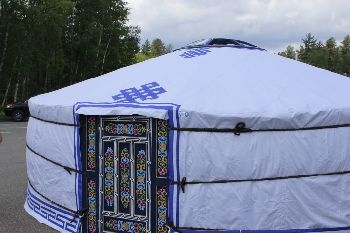 The completed yurt!