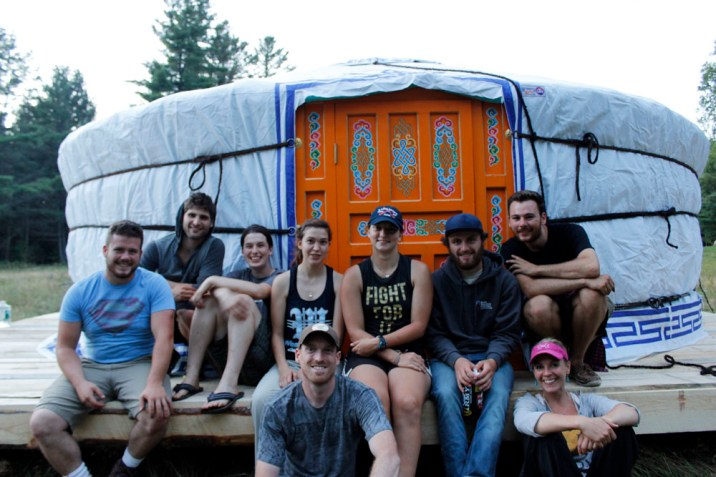 The Osgood Pond Semester team after three long days of building.