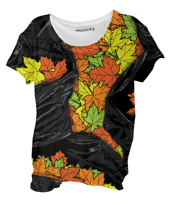Paul S OConnor Leaf Litter Pattern Autumn Shirt Textile Pattern