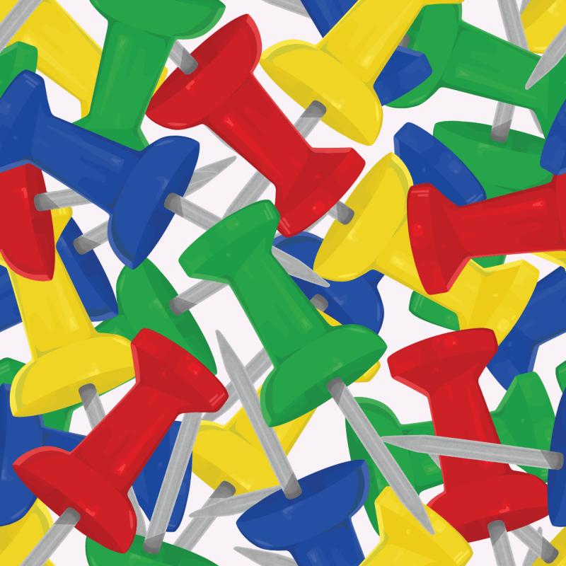Paul S OConnor Push Pin Textile Print Pattern