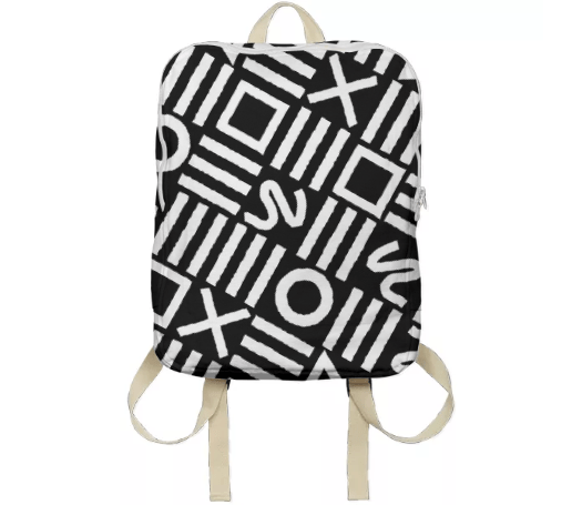 Paul S OConnor Rough Geometry Textile Pattern Print Backpack