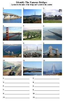 Picture Quiz  Famous Bridges  Pauls Free Quiz Questions