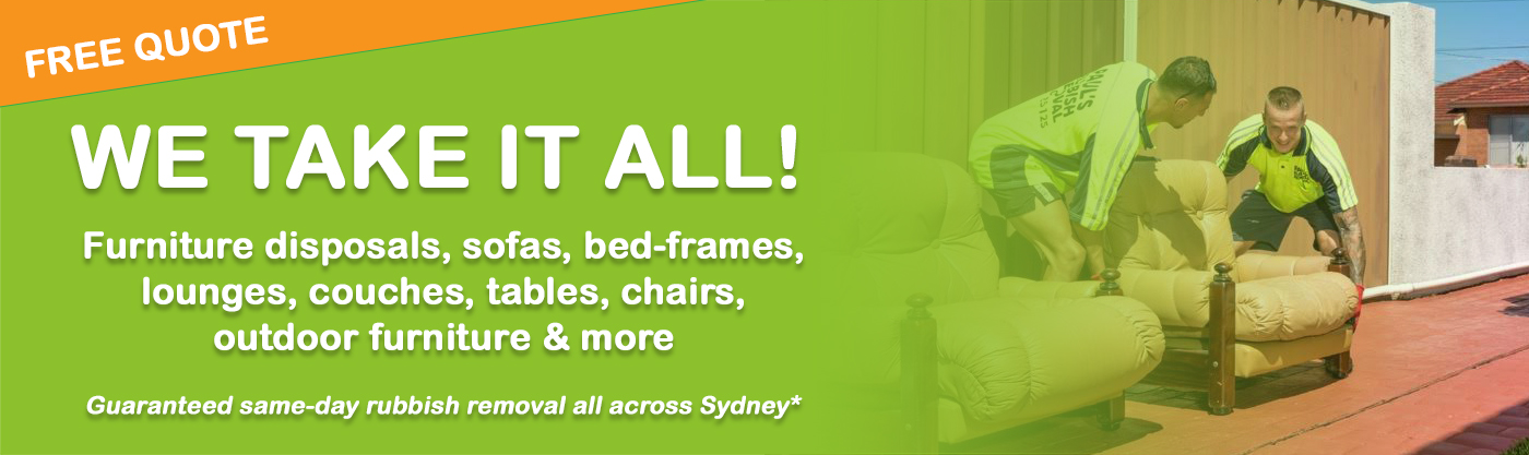 how to recycle my sofa brown leather chesterfield style unwanted furniture removal collection disposal sydney and