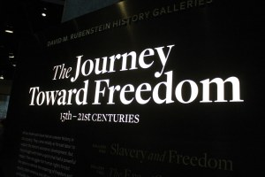 The beginning of the NMAAHC slavery and freedom exhibition where I have worked to understand audiences