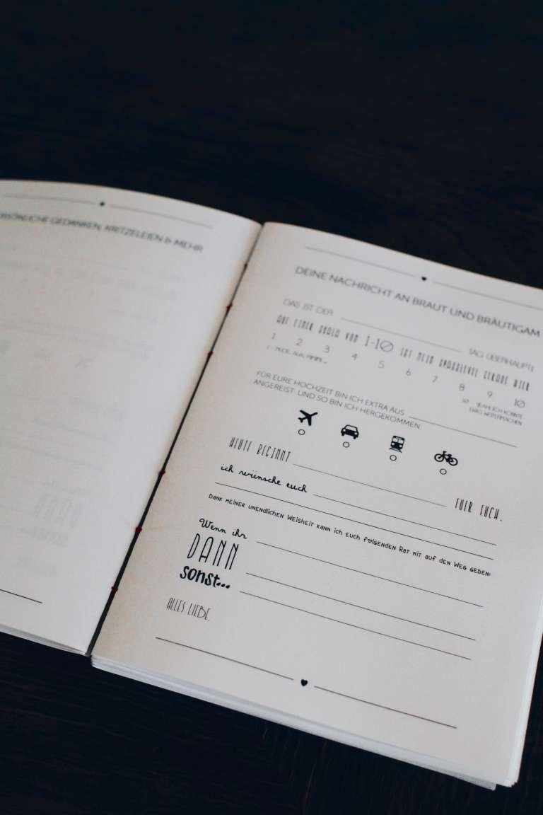 DIY Hochzeit Gstebuch selbst gestalten und binden