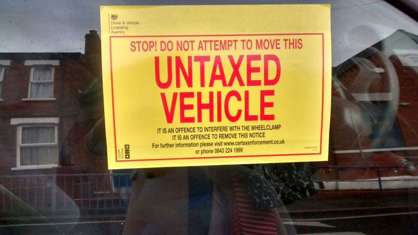 UNTAXED VEHICLE