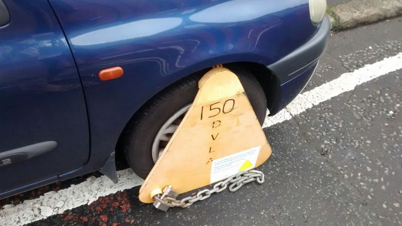 Wheel Clamp on Car