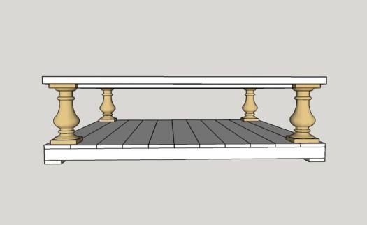DIY Restoration Hardware Balustrade Coffee Table - Paul Tran DIY
