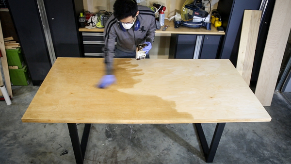 Optional: Iron on Birch Edge Tape to the table top. This will hide the plywood layers. Some people like the plywood layer look some do not. & Modern Plywood Dining Table | Single Sheet | Two Power Tools - Paul ...
