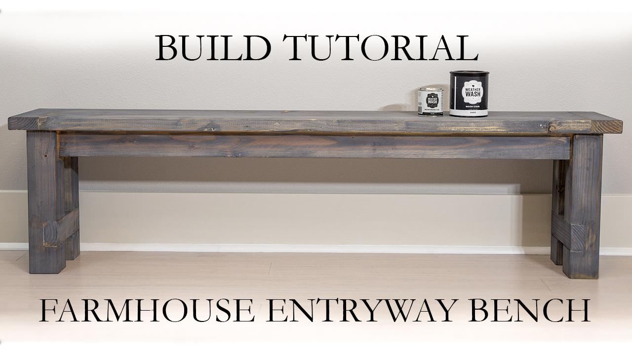 Entryway Farmhouse Bench Diy Paul Tran Diy