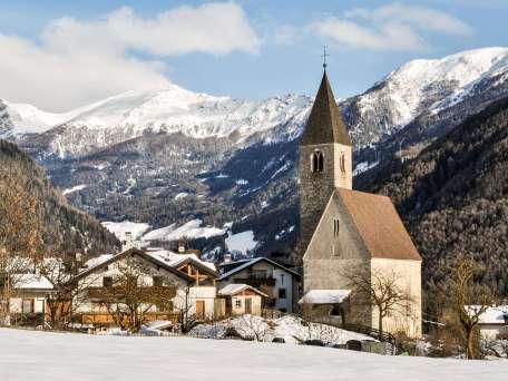 The church of a small alpine village near Vipiteno, north of Italy