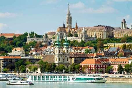 Hongarije Budapest vanaf Buda zijde