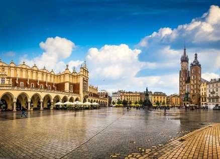 Busreis Polen: Krakau marktplein