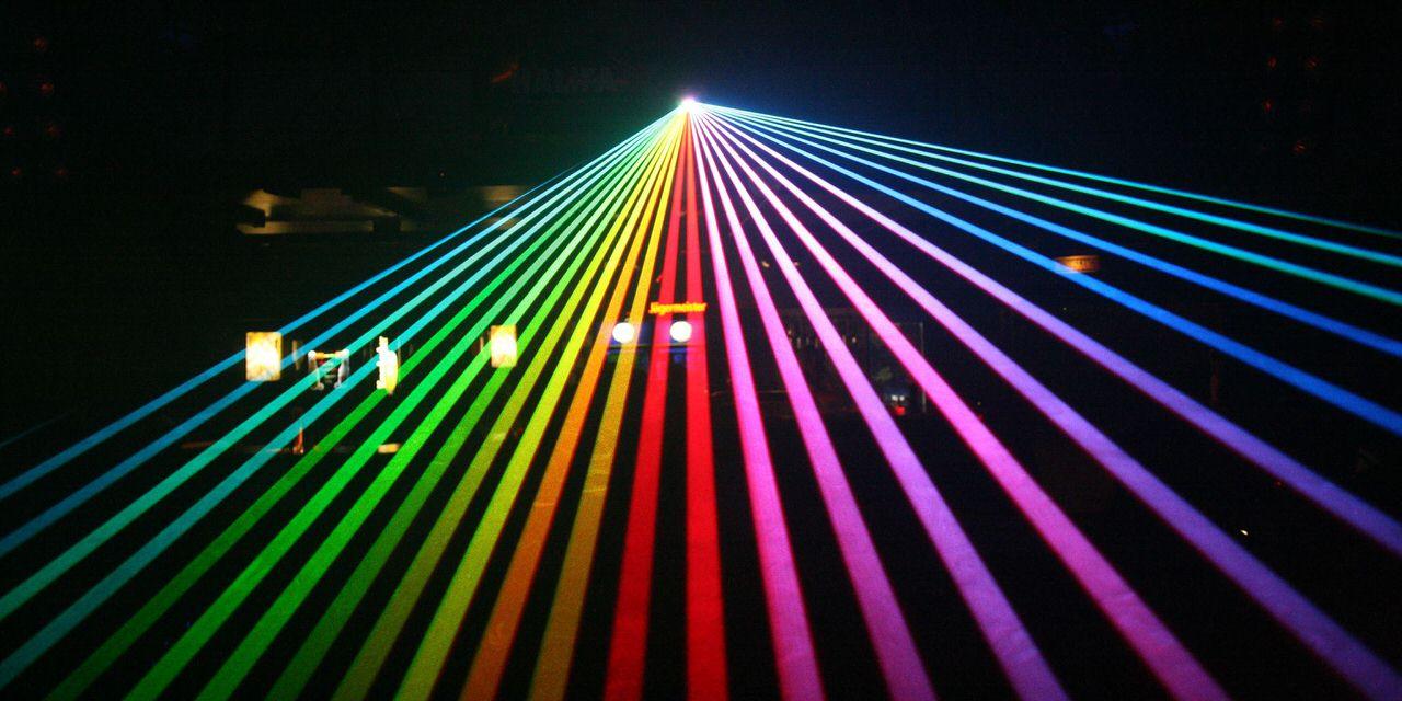 Lasershow am Ende des Laserschutzseminars. Foto: Andreas Paul/Paul van Groove