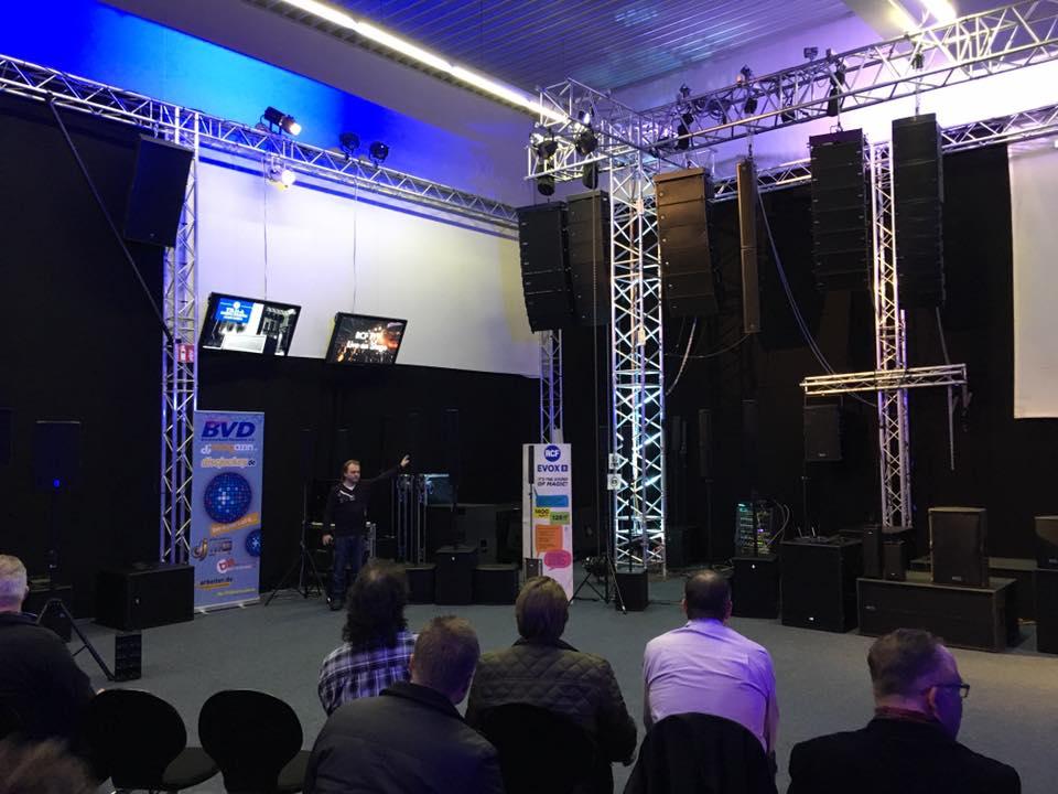 Produktpräsentation bei RCF und db Technologies in Köln